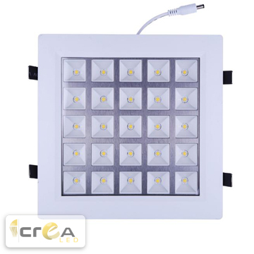 Panel LED Empotrable para Plafón 25W
