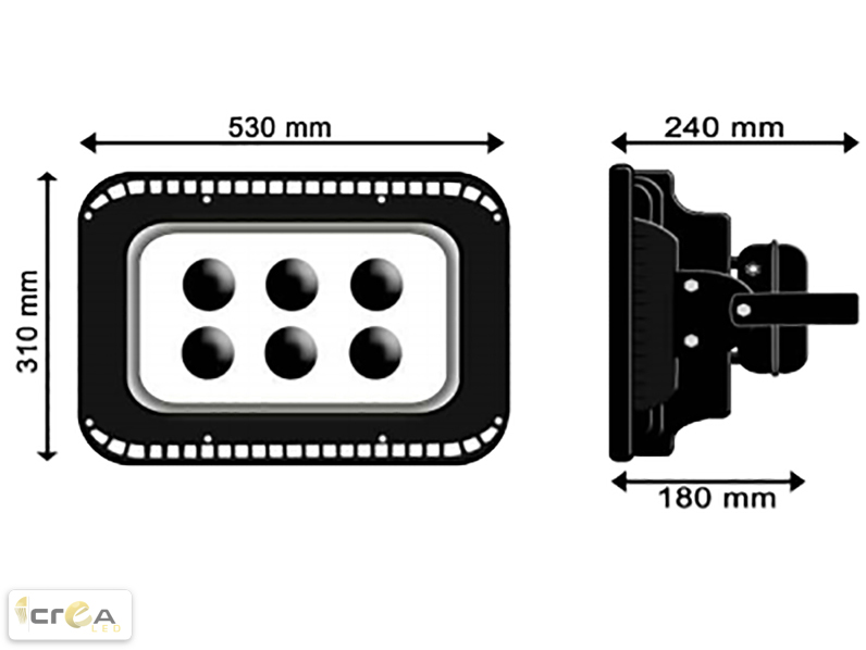 Reflector Tipo FloodLight LED 300W muestra