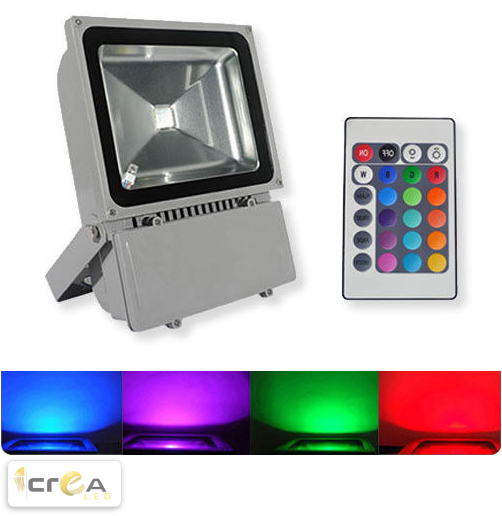 Reflector Tipo FloodLight LED RGB 100W producto